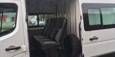 RENAULT MASTER X62L3H2 4 sièges Zuo partie arrière isolée décontaminable hayon dépliable